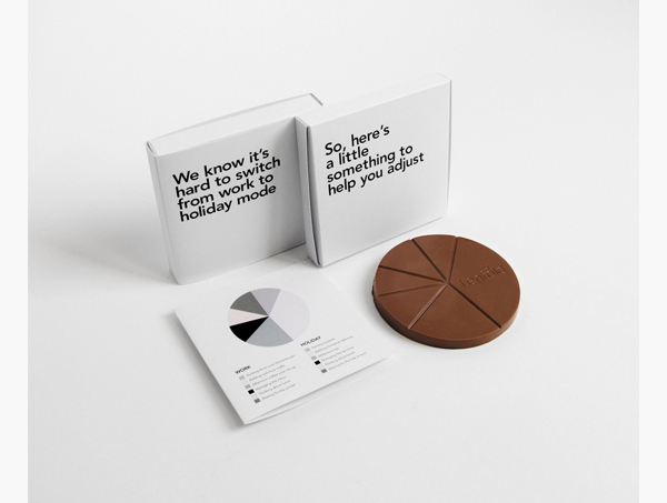 How about a business-y chocolate nudge into holiday mode? By Tenfold Creative, USA