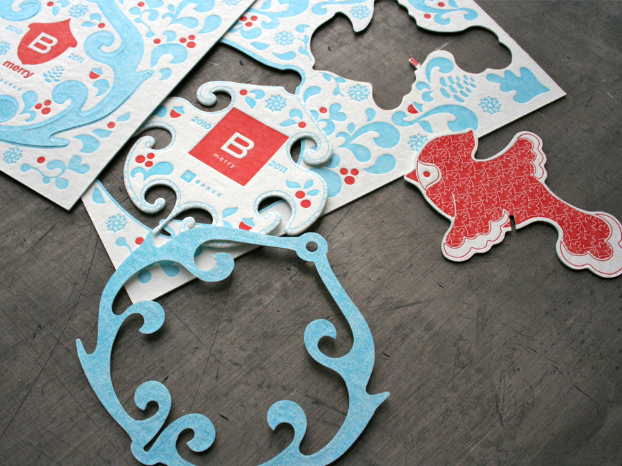 A beautiful branded card-turned-ornament
