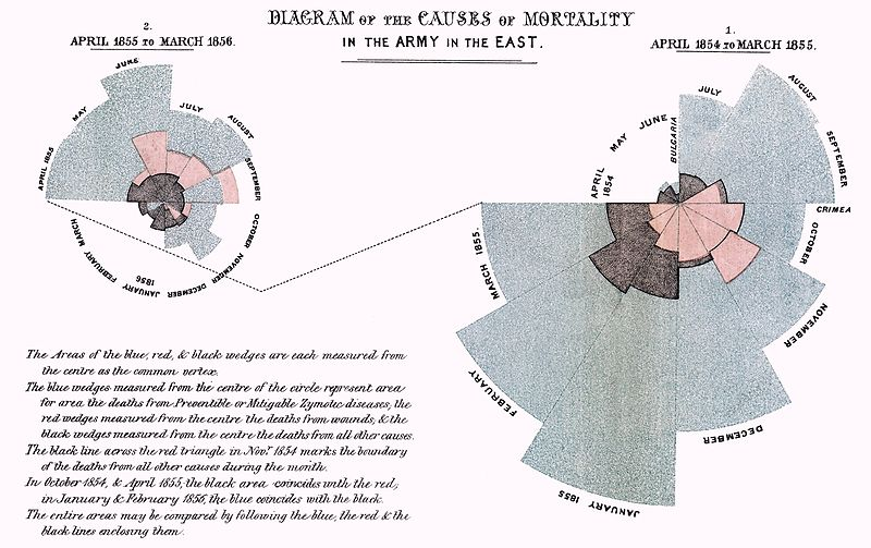Making her case. Florence Nightingale used infographics, too.