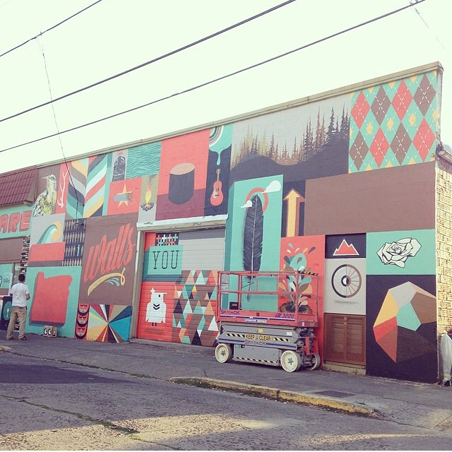 murals around Portland