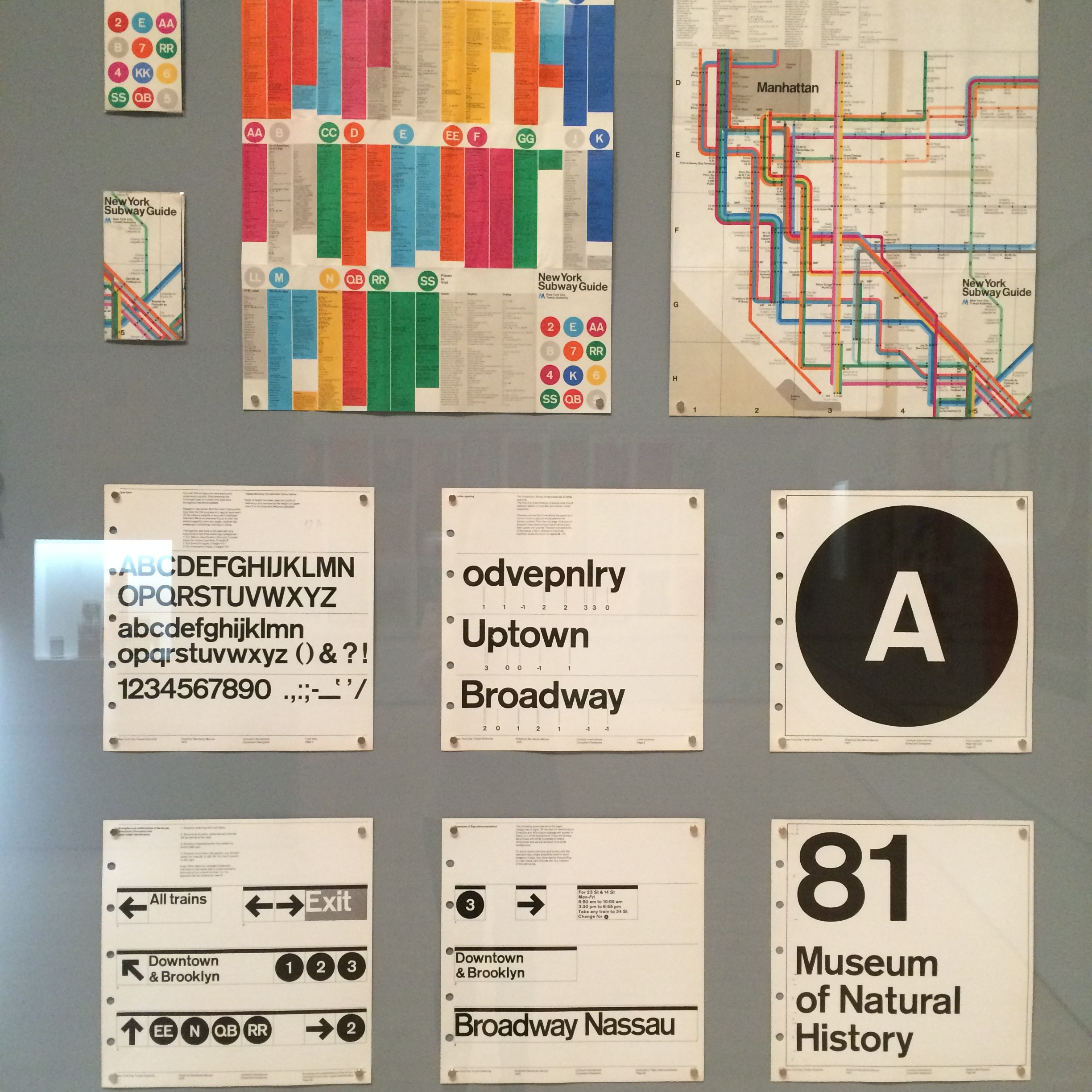 City way finding standards for NY, SFMOMA brand posters