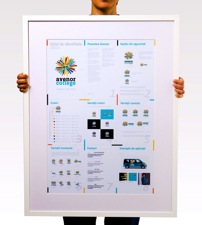 Brand posters for Avenor College from Identity Designed