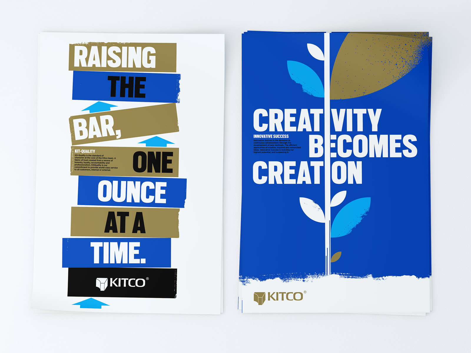 Inspirational brand posters for Kitco by Peter Sunna