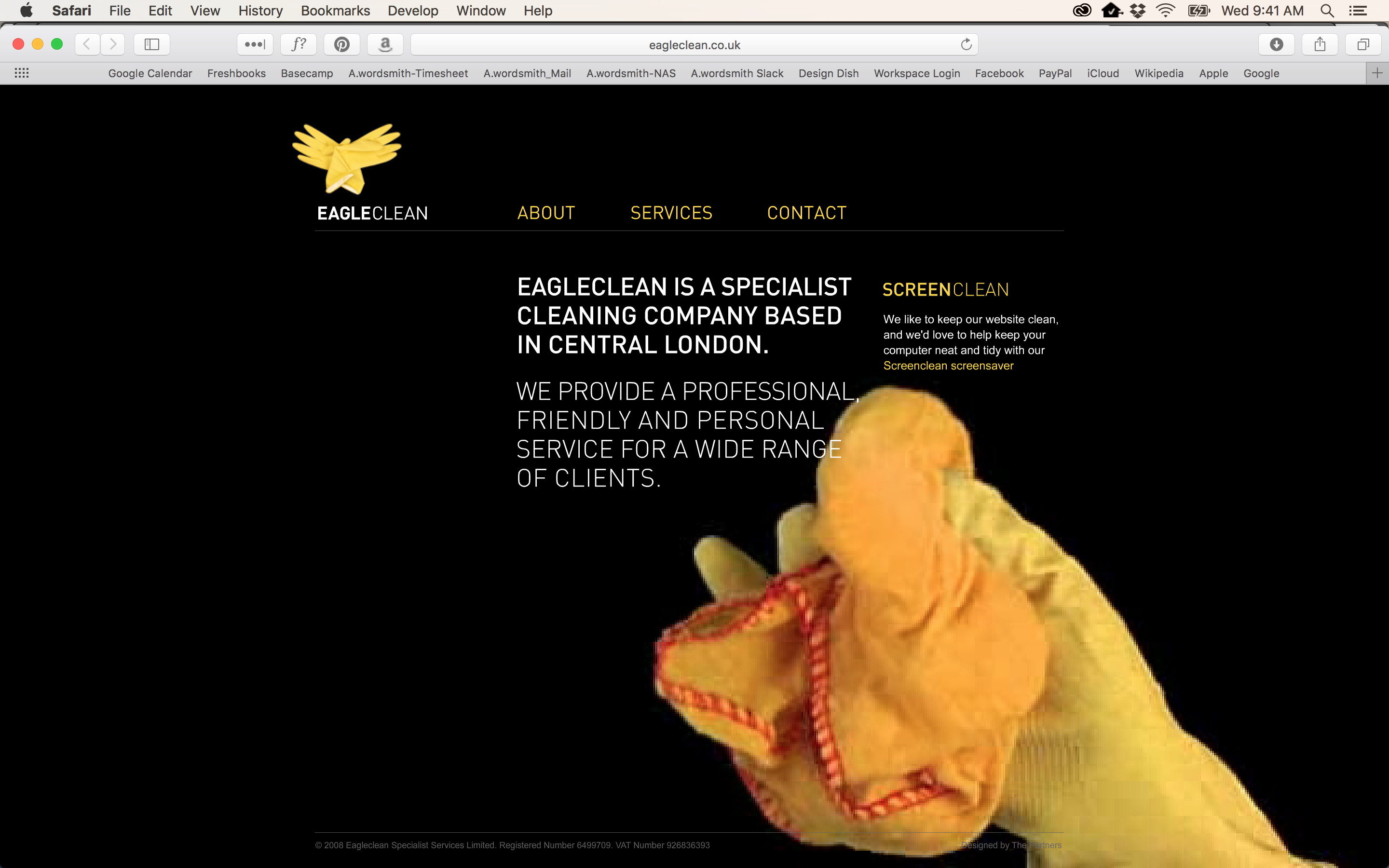 Homepage for Eagle Clean